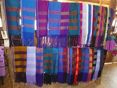 Doi Inthanon NP, Thailand (Jan-2016) 10-005 (MistyTree Adventures) Tags: thailand asia seasia handmade indoor karen fabric cloth hilltribe scarfs doiinthanon panasoniclumix karenhilltribe doiinthanonnationalpark hilltribevillage