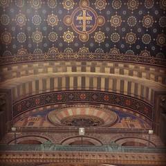Look up ! (Kemen) Tags: church architecture temple major marseille cathdrale glise dieu croix massilia catholique divinit