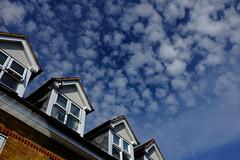 Little fluffy clouds (PetePhoto61) Tags: blue clouds fuji watford polariser x100s