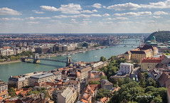 Bridges of Budapest (Irene Becker) Tags: hungary outdoor budapest danube castledistrict magyarorszg mtystemplom matthiaschurch chainbridgebudapest budapestcastledistrict highpointofview irenebecker irenebeckereu