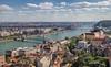 Bridges of Budapest (Irene Becker) Tags: hungary outdoor budapest danube castledistrict magyarország mátyástemplom matthiaschurch chainbridgebudapest budapestcastledistrict highpointofview irenebecker irenebeckereu