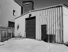 Corrogations (geowelch) Tags: toronto buildings blackwhite industrial urbanlandscape libertyvillage urbanfragments fujifilmx10