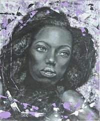 ALMA - Amina che Nutre (Mire Le Fay) Tags: donna colore mixedmedia anima ritratto volto mirelefay