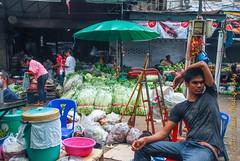 Vegetable vendor at wet market (cooli_#1) Tags: road street old trip food museum asian thailand temple photography boat ancient asia outdoor bangkok buddhist si sightseeing thai koi bang khun barge chon buri pattaya 2012 racha silom bts sichang thonburi เชียงใหม่ วัด ประเทศไทย thain sukhumwit ดอยสุเทพ earthasia yourbestoftoday พุทธศาสนิชน rathankosin
