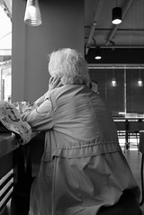 * Tea Time... (DAAutoManiA) Tags: street leica monochrome candid streetphotography starbucks dlux silverefexpro typ109