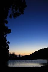 (Yorozuna / ) Tags: mountain water silhouette landscape evening twilight pond scenery reservoir gradient niigata gradation     nagaoka     waterreservoir            agriculturalwater
