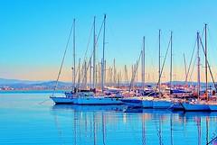 Blue Sea (Francesco Impellizzeri) Tags: travel blue sea port canon boats sailing sicily sicilia trapani