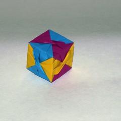 Furoshiki cube ( Miyuki Kawamura) (De Rode Olifant) Tags: paper 3d origami modular cube paperfolding diagrams furoshiki miyukikawamura marjansmeijsters qm102 furoshikicube
