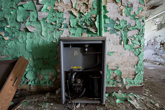 Drinking Fountain (cvan1978) Tags: abandoned yellow architecture michigan urbanexploration traversecity asylum statehospital historicplaces kirkbride traversecitystatehospital thevillageatgrandtraversecommons