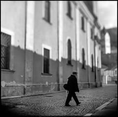 *Trencin, Slovakia* (joseph_kop) Tags: street city bw 6x6 film analog pentacon p6 tiltshift kodaktmax freelens