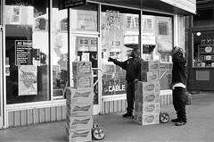 The Bud Crew (TnOlyShooter) Tags: film beer analog nashville tennessee streetphotography bud budweiser olympusom1 kodaktrix400 olympusomzuiko50mmf18 findlab