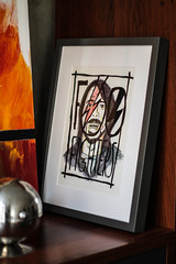 dave grohl (nicouze) Tags: art dave paint main dessin peinture homemade foo draw fighters cadre fait davidbowie grohl paintng ziggystardust nicouze
