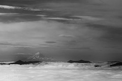 Clouds with Mt. Hood (Photos By Michi) Tags: sky blackandwhite cloud mountain nature clouds oregon landscape washington outdoor mtsthelens