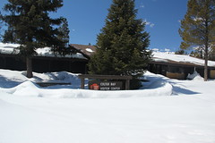 Colter Bay Visitor Center, buried in the snow (Aggiewelshes) Tags: travel winter snow landscape scenery april wyoming jacksonhole colterbay grandtetonnationalpark 2016 gtnp