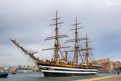 Amerigo Vespucci in ormeggio a Cagliari (Rob McFrey) Tags: sardegna marinamilitare ship porto cagliari nava veliero amerigovespucci