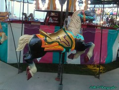Carousal Horse (PhotoJester40) Tags: carnival outside outdoors carnivalride carouselhorse