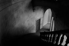 (mlou mlou mlou) Tags: door shadow bw white black monochrome architecture stair noir noiretblanc interior blanc