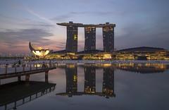 Marina Bay Singapore Countdown 2016 (gintks) Tags: reflection sunrise singapore jubilee esplanade float fullerton goldenjubilee merlion jubileebridge orangeglow onefullerton exploresingapore singaporetourismboard wishingspheres sg50 yoursingapore 20152016 gintaygintks