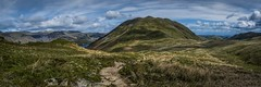 A view and a path . . . Explore 08-01-2016 #7 (Brad Eide) Tags: england panorama cloud photoshop landscape nikon lakedistrict cumbria ullswater placefell angletarn nikon1755mmf28
