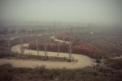 Niebla (Juanedc) Tags: city winter espaa mist cold fog way spain camino ciudad zaragoza aragon invierno es neblina niebla saragossa depositos valdespartera