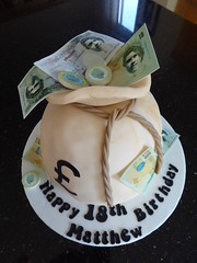 Money Bags (Victorious_Sponge) Tags: birthday money cake 21st 18th bags
