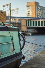 Slow boat and fast train (justindperkins) Tags: london train boat canal eurostar e320 class374