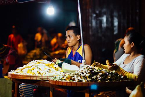 Vendors Cutting Vegetables, Cebu Philippines