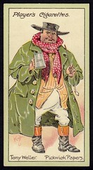 Cigarette Card - Tony Weller (cigcardpix) Tags: vintage advertising ephemera dickens cigarettecards