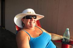 my stylish wife (BarryFackler) Tags: life hat sunglasses outdoors island hawaii polynesia betty tropical bigisland waterbottle kapaa kohala 2016 hawaiicounty northkohala hawaiiisland westhawaii kapaabeachpark bettybowen lifeisland barryfackler barronfackler bettyfackler