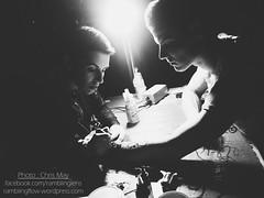 Soliman Emra is making the owl tattoo (kriszcsanyi) Tags: party urban bw tattoo ink photography europe artist budapest buli hz fogas tetovls tetk