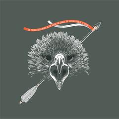 guia (Mendes, Thiago) Tags: bird illustration dead eagle pssaro arrow vector ilustrao morto vetor flecha guia davidherbertlawrence