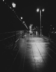 Night Walk (Mr.Damo) Tags: white black fuji penarth x100