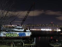 Tobin Bridge - Boston, MA (rik-shaw (blekky)) Tags: bridge river bay chelsea massachusetts newengland tobinbridge bostonmassachusetts baystate