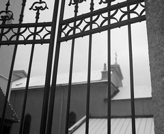 gate 1 (VladPL) Tags: leica winter blackandwhite bw snow church monochrome lines architecture iso100 gates lviv ukraine leicacamera armenianchurch leicax2 leicaxseries lviv2016 leicajpeg vladpl vladplphoto