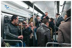 Subway Concert, Paris, France (Bigmob Dontwannastop) Tags: street city boy party people urban musician music paris france reflection window girl underground subway wagon concert play metro live young jazz line violin 12 spectator saxophone