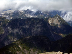 Tingle-Gold Divide (Dru!) Tags: shadow cloud canada mountains weather bc britishcolumbia granite wilderness mapleridge pittlake goldcreek coastmountains goldenearsprovincialpark robiereid tinglecreek