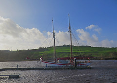 Yacht Mooring (Katie_Russell) Tags: blue ireland sky green water river boats boat ship harbour ships bann northernireland ni ulster nireland norniron coleraine countylondonderry countyderry riverbann coderry colondonderry colderry crannagh countylderry