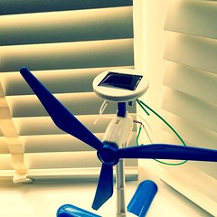 Solar powered windmill (052/366) (garrettc) Tags: home solar construction science kit 365 366 solarbot