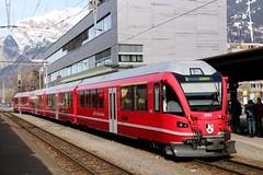 2016-02-06, RhB, Landquart (Fototak) Tags: train switzerland railway s1 sbahn treno allegra rhb graubnden stadler 3103 schmalspurbahn