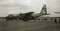 Tip Top (crusader752) Tags: bw monochrome mono 1971 lockheed usaf openhouse hercules usairforce c130e rafalconbury 640540pg