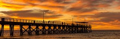 Largs Pano (Nathan Godwin) Tags: sunset summer cloud seascape water clouds fire pier sand jetty sony sunsets adelaide southaustralia cloudscape beachscape oceanscape sunsetporn adelaidebeaches sunsetphotography largsjetty sonyphotographer sunsetseascape adelaidephotographer sonya77 southaustralianbeaches