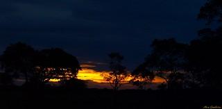 The night falls in the Pantanal...