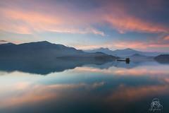 _MG_1560_ (higrace ) Tags: morning sunset sky lake water clouds sunrise dawn pier taiwan rays     crepuscularrays crepuscular  sunmoonlake