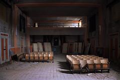 (eLe_NoiR) Tags: cinema abandoned decay forgotten urbanexploration sedie architettura decadence ue urbex abandonedplaces abbandono abbandonato elenoir