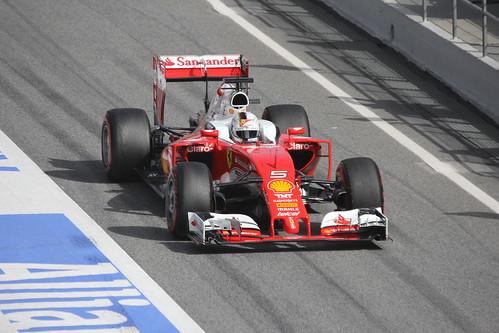 Sebastian Vettel in Formula One Winter Testing 2016