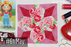 gnomeangel-farmers-wife-1930-block-61-may-fqs (gnomeangel) Tags: modern quilt quilting patchwork tutorial farmerswife fussycutting gnomeangel fussycuttersclub farmerswife1930