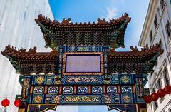 Alleyway -  China Town Arch (Panasonic Lumix LX100) (markdbaynham) Tags: street leica city uk urban london westminster lumix zoom capital central panasonic gb fixed ft metropolis dmc 43rd 43 lx londoner londonist fourthirds evf lx100 2475mm f1728 lumixer