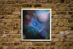 Space (colorprojectart) Tags: art japan modern painting studio japanese tokyo paint gallery artistic earth modernart space painted exhibition pop spray textures popart painter planet spraypaint artworks tomoya artstudio sprayer artistonflickr