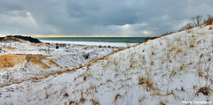 Lake Effect Snow (mswan777) Tags: park winter sky lake snow storm cold ice nature water grass clouds sand nikon state outdoor michigan dunes great lakes scenic sigma warren 1020mm lakeeffect d5100