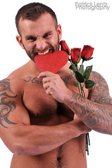 Valentine's Day with Nick Wagner 19 (Violentz) Tags: portrait hairy man male guy heart body muscle handsome bodybuilding fitness fury valentinesday physique tattooed patricklentzphotography nickwagner
